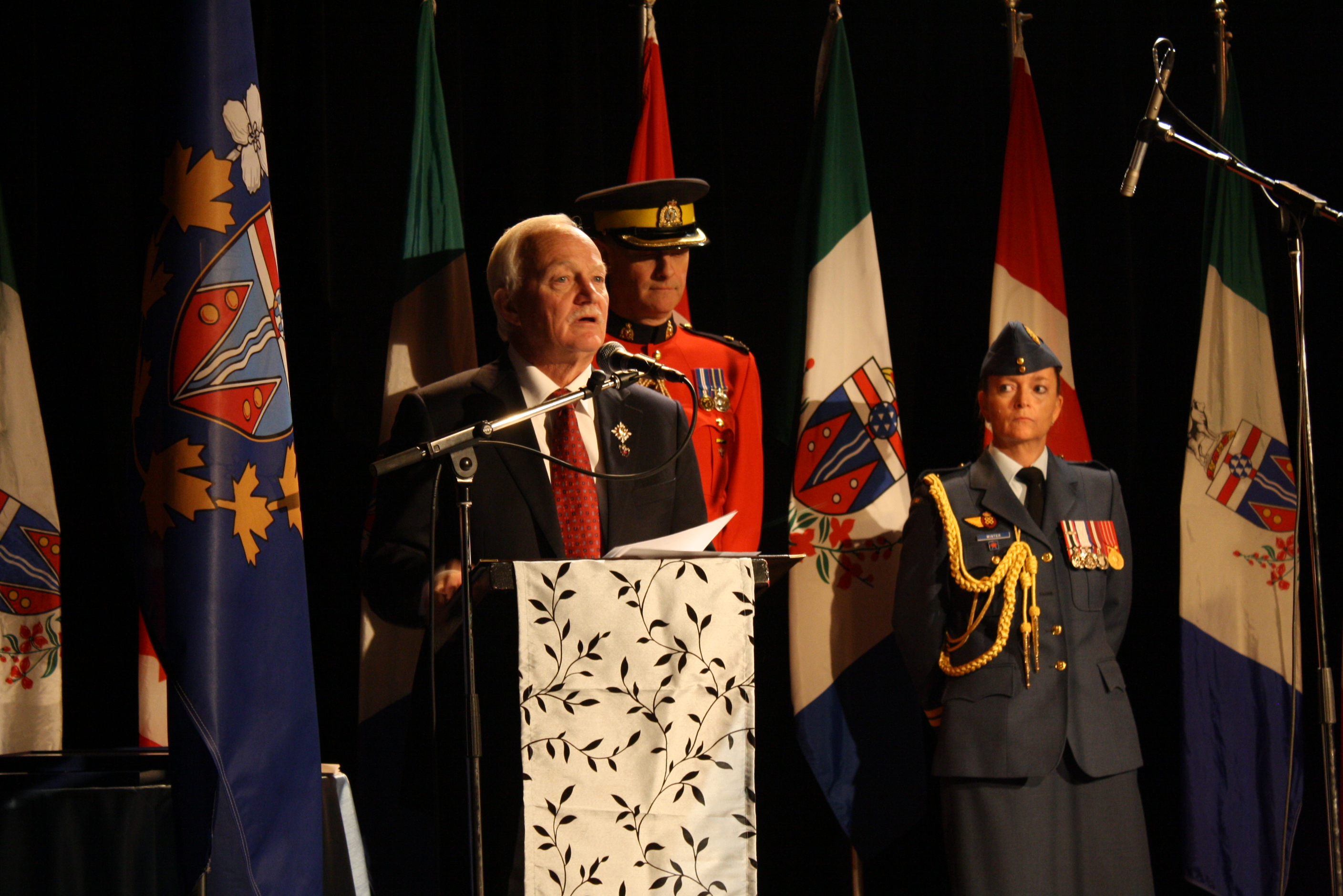 The Commissioner of Yukon, the Honourable Doug Phillips speaking at the concert. (Photo: Alina Dragomir/ Yukon Times)