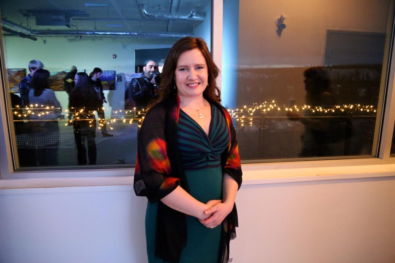"Emma Barr at her event ""My Best Work Yet"" on Thursday. | Photo: Gurdeep Pandher"