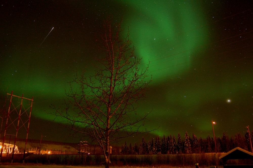 A Fleeting Star in Pelly Crossing, Yukon | Photo: Melanie Hackett