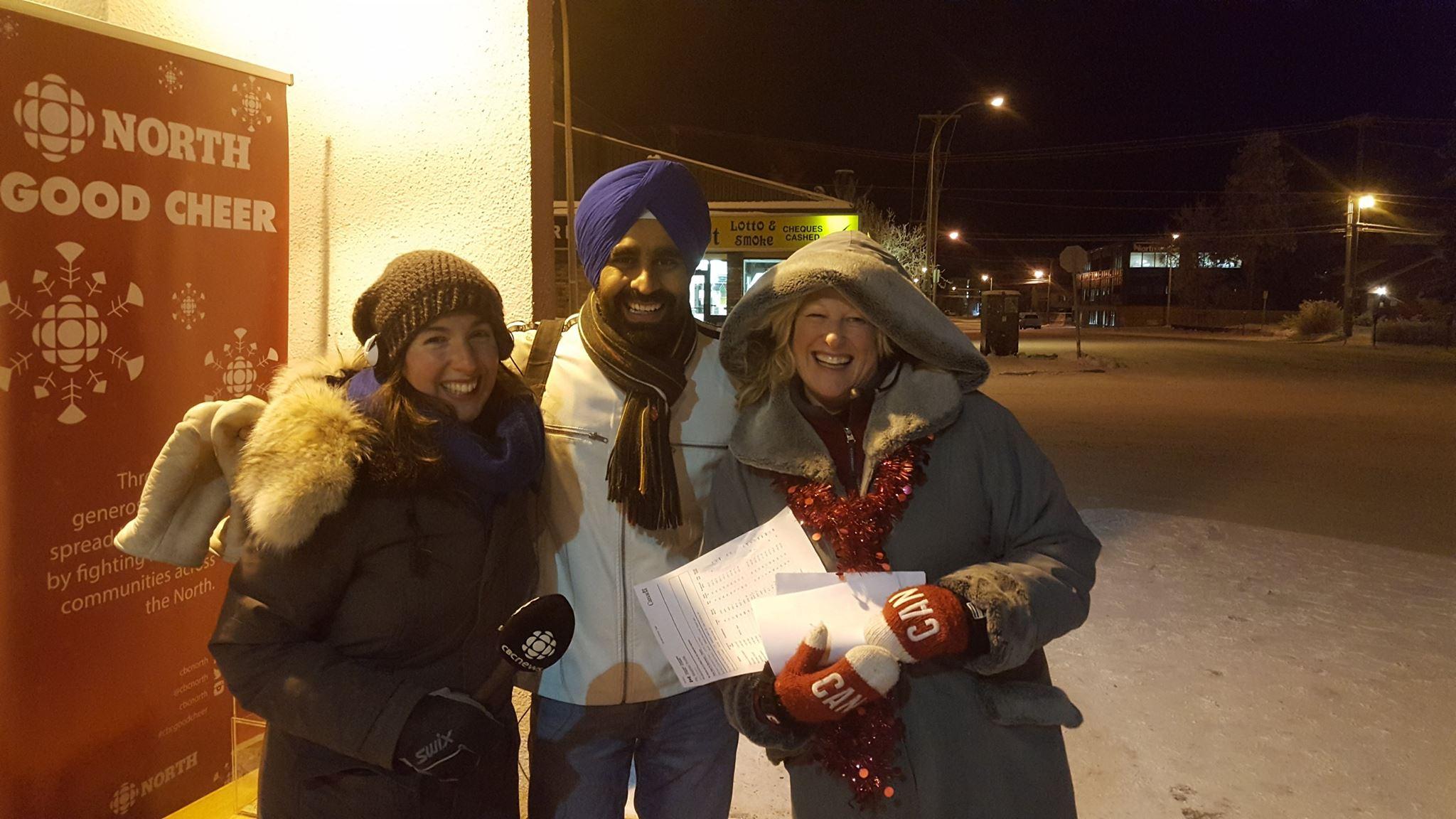 Cheryl Kawaja, Gurdeep Pandher and Sandi Coleman (Photo by: Arnold Hedstrom/CBC)