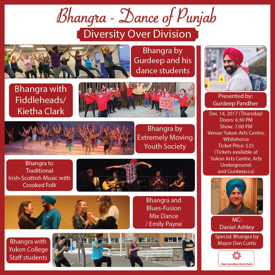Poster: Bhangra - Dance of Punjab 2017